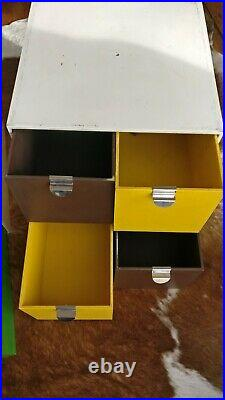 3 Vintage 1970s Palaset modular storage cubes, retro Habitat mid century drawers