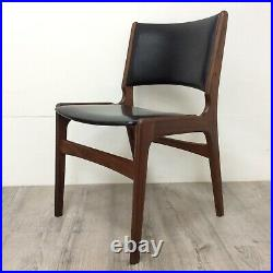4 Mid Century Danish Teak Dining Chairs Model 89 by Erik Buch for Anderstrup