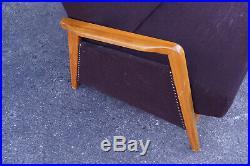 60er MidCentury Sofa Daybed Retro Vintage Couch Retro Schlafsofa Danish braun