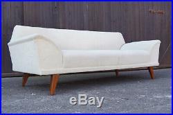 60er Mid-Century Sofa Daybed Retro Couch Schlafsofa Vintage Danish Modern weiß