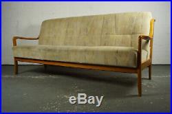 60er Mid-Century Sofa Daybed Retro Couch Schlafsofa Vintage Danish Nussbaum