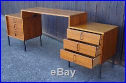 60er Teak Schreibtisch Retro Danish Tisch Büro Sekretär Mid-Century Vintage