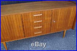 60er Vintage Nussbaum Sideboard Kommode Retro Anrichte Danish Mid-Century 2