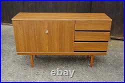 60er Vintage Sideboard Kommode Nussbaum Retro Anrichte Danish Mid-Century