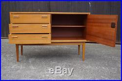 60er Vintage Sideboard Kommode Retro Anrichte Danish Nussbaum Mid-Century 41
