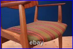 Danish Mid Century Modern Oak Desk Chair Vintage Retro 60s