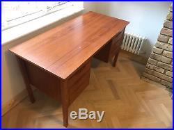 Danish Teak Pedestal Desk Mid Century Vintage Retro 1960's