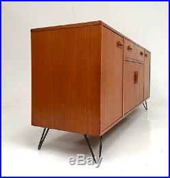G PLAN FRESCO RETRO TEAK SIDEBOARD TV MEDIA UNIT HAIRPIN LEGS Mid Century 1970s