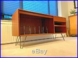 G PLAN Mid Century Retro Teak Vinyl Record Hifi Stereo Cabinet Media Unit