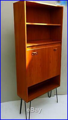 G PLAN Vintage Mid Century Teak Hairpin Leg Retro Bookcase Shelves Drinks Unit