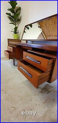 G Plan Fresco Floating Dressing Table Desk & Stool Mid Century Vintage Retro