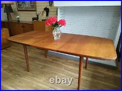 G Plan Retro Dining Table Vintage Extending Mid Century Modern Teak Refurbished