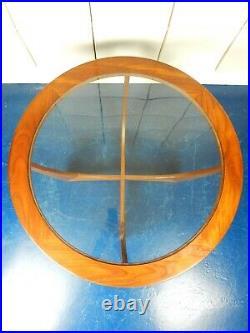 Gplan G plan Astro teak glass round coffee table Mid century retro mcm vintage