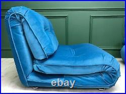 Gplan Vintage Retro Mid Century Blue Modular 3 seater Sofa suite by Km Wilkins