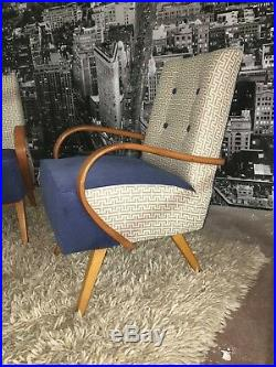 Jindrich Halabala Bentwood Armchair retro, mid century design