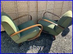 Jindrich halabala chairs art deco, mid century, retro, vintage