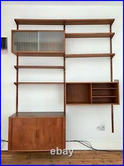 Kai Kristiansen FM Reolsystem Danish mid century vintage teak modular wall unit