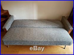 London 60s vintage retro Danish style teak sofa, mid century day bed sofa bed