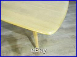 MID CENTURY VINTAGE RETRO 60's ERCOL ELM BLONDE PLANK TOP DINING TABLE