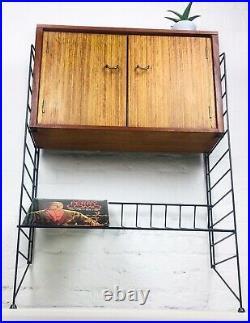 MID Century Shelving System Bookcase Walnut Retro Vintage