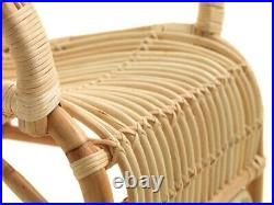 Mid-Century Bamboo Chair, Cane Bohem, Vintage Rattan Armchair, Retro Wicker Style