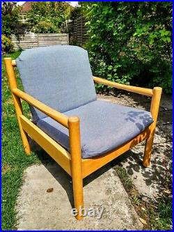 Mid Century Blonde Ercol Chair 749 Vintage Retro