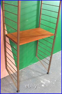 Mid Century Ladderax Shelving, Desk, Workspace, Teak, Retro, Modular, Vintage