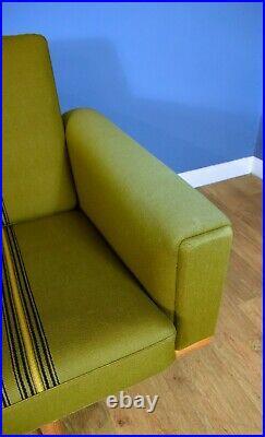 Mid Century Retro Danish Hans Wegner GE-236 for Getama Green Wool 3 Seat Sofa