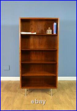Mid Century Retro Danish Rosewood Four Shelf Bookcase Cabinet by Hundevad 1970s