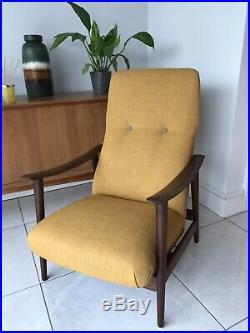 Mid Century Retro Reclining Arm Chair, Scandinavian, Westnofa, Danish, Teak
