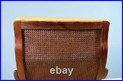 Mid Century Retro Swedish Buttoned Caramel Leather Bentwood Lounge Armchair 70s