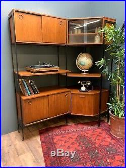 Mid Century Retro Teak Avalon Modular Shelving, Sideboard, Ladderax Style
