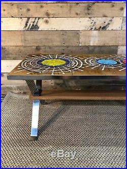 Mid Century, Retro, Vintage, 70s Belgian Tiled Coffee Table by Juliette Belarti