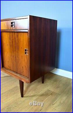 Mid Century Retro Vintage Danish Rosewood Two Door Sideboard Cabinet 1960s 70s