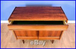 Mid Century Retro Vintage Norwegian Rosewood Two Door Sideboard Cabinet 1970s