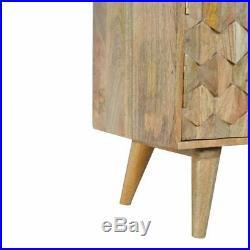 Mid Century Sideboard Scandinavian Retro Oak Cabinet Solid Mango Wood Furniture