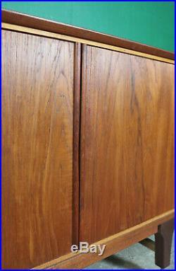 Mid Century Teak Sideboard, Tambour Door, Retro, Vintage, Danish Style, Lounge