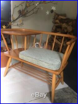 Mid Century Vintage Rare Ercol Style Chippy Heath Telephone Bench seat