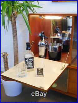 Mid Century Vintage Retro 60s 70s Teak Cocktail Drinks Cabinet Sideboard Unit