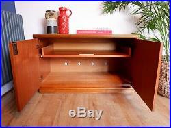 Mid Century Vintage Retro Teak Meredew Small Sideboard Media Cabinet 1960s 70s