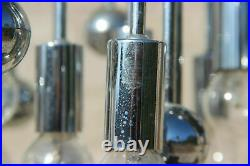 Mid century Retro Sputnik atomic chrome metal sciolari chandelier 1970 9 lights