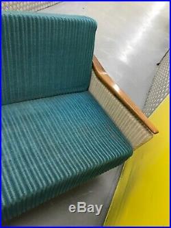 Midcentury Sofa Bed Seat Original Upholstery Retro 1950s Vintage