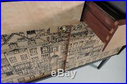 Midcentury retro vintage sideboard Credenza Fornasetti Era Italian 1950s 60s Ply