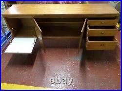 Nathan Circles Mid-Century Teak Sideboard 6ft Retro Storage Cabinet