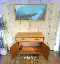 One G Plan Teak MID Century Sideboard Cabinet On Retro Hairpin Legs Cupboard