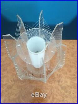 Original Mid Century Retro Modernist Sputnik 1970s String Art Lucite Lamp