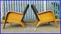 Pair Of Greaves And Thomas Armchairs Retro Vintage Mid Century Danish Style