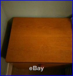 Pair STAG Vintage Retro Bedside Cabinet Danish style mid-century teak