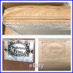 Poltrona Frau Italian Leather Sofa Retro Vintage Mid Century