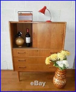 Rare Vintage MID Century Nielsen Tibergaard Danish Teak Drinks Cabinet Drawers